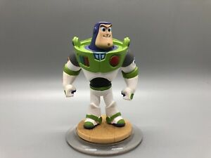 "BUZZ LIGHTYEAR  3 1/4"" figure on round ""wooden"" floor Disney Infinity R2"