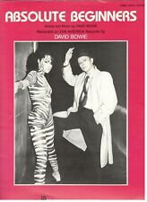"DAVID BOWIE ""ABSOLUTE BEGINNERS"" SHEET MUSIC-PIANO/VOCAL/GUITAR-1986-NEW ON SALE"