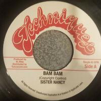 "Sister Nancy BAM BAM 7"" Vinyl STALAG Rhythm .45 CLASSIC REGGAE SINGLE TENOR SAW"