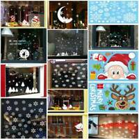 Merry Christmas Wall Window Sticker Art Elk Santa Ornament Home Party Xmas Decor