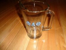 Vintage Fraternity House Glass Beer Pitcher Phi Delta Theta 56oz Clean clear