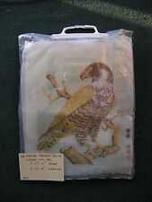 American Peregrine Falcon needlepoint canvas complete with persian type yarn