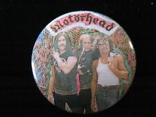 Motorhead-Cartoon Background-Heavy Metal-Pin Badge Button-80's Vintage-Rare