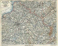 FRANKREICH France Normandie Ardennen LANDKARTE von 1897 Marne Lothringen Elsass