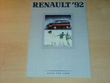 28721) Renault R19 16V Alpine A610 Espace Prospekt 1992