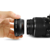 52MM 0.45 x lente de Macro gran angular ojo de pez para Nikon D70 D3200 D3100 D5