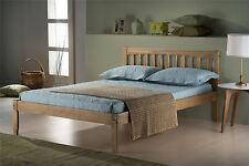 Birlea Porto Double Corona Mexican Pine 4FT6 135CM Waxed Wood Bed Frame