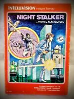 NIGHT STALKER - Vintage 1982 Mattel Intellivision - Complete Video Game