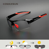 Comaxsun Photochromic Cycling Glasses Discoloration Bike Goggles Sports Eyewear