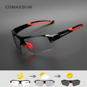 Comaxsun Photochromic Cycling Glasses Discoloration Bike GogglesSports Eyewear