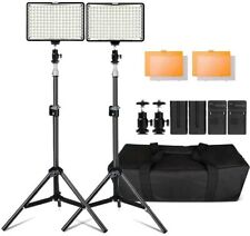 Photography 160 LED Studio Lighting Kit for Canon Nikon Sony, 160 Dimmable Ultra