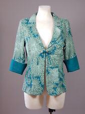 NWT Noa Noa 100% cotton green floral jacquard look blazer jacket size M