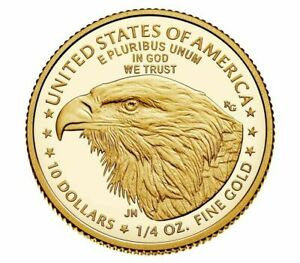 2021-W 1/4 American Eagle One-Quarter Ounce Gold Proof Coin (21EDN) Type 2