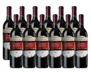 12 Flaschen italienischer Rotwein - Vino Rosso italiano 0,75 Liter