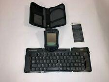 Palm Pilot M100 handheld w/ Stylus, Keyboard and Palm Original Leather Case