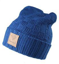 Diamond Supply Co. Petrol Blue 100% Acrylic Knit Fold Cuff Beanie Winter Hat NWT