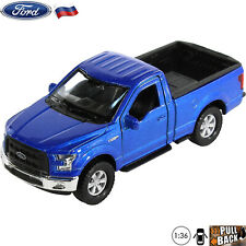 Diecast Car Scale 1:36 Pickup Truck Ford F-150 Blue Russian Model Toy Cars