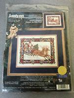 Janlynn NEW Vtg Santa's Journey #125-233 Christmas Counted Cross Stitch Kit 1998