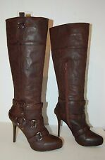 REPORT BELTED HARNESS RIDING LEATHER BOOTS SIZE 7.5 BRAND NEW