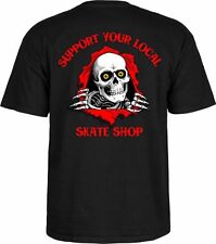 Powell Peralta Ripper Support Your Local Skateboard Shop T Shirt Black NEW MED