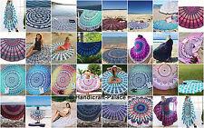 10 Pcs Wholesale Lot 72'' Mandala Round Roundie Beach Throw Indian Tapestry Art