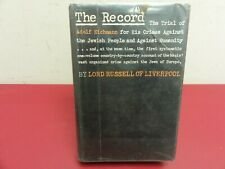 The Record  HC DJ Mylar 1st Am Edit.  Ex-Library 1962  Lord Russell of Liverpool