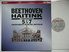 HAITINK CONDUCTS BEETHOVEN SYMPHONY NOs 5 & 7 COA PHILIPS 420 540 DIGITAL