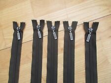 5 Barbour Zips For Use On Waxed Jackets - 30 inch - Open End - Good Quality Zips