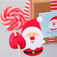 50pcs DIY Christmas Santa Penguin Lollipop Stick Candy Paper Party Decorations