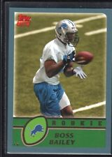 BOSS BAILEY 2003 TOPPS FOOTBALL #335 RC ROOKIE CARD LIONS MINT