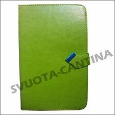 "CUSTODIA COVER FODERO FINESTRA IN ECO PELLE UNIVERSALE PER TABLET 8 "" POLLICI"
