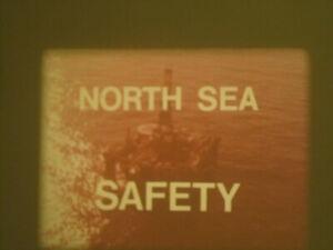 NORTH SEA SAFETY 16MM 400FT COLOUR SOUND CINE FILM OIL RIGS