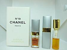 Chanel No 19 10 ml & 7.5 ml pure parfum perfume set 19Dec72-T