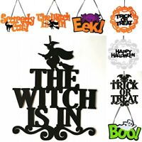 Halloween Ornaments The Witch Is In Black Door Hanging Decoration for Party Lot