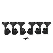6 pièces noir couleur basse tuning chevilles 3l3r Machine têtes de Métal pour