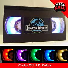 📼 Retro USB VHS Lamp   Desk Night Light, Jurassic World, Film Gift