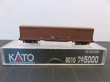 KATO 8010 Series 5000 Japanese BOX CAR WAKI Brown N Scale Model Train T164