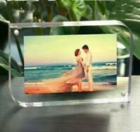 Clear Acrylic Photo Frame Double Sided Magnetic wedding photo Desktop adorn