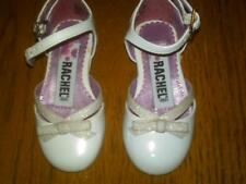 NWT $28 TODDLER GIRLS FANCY SHINY WHITE DRESS SHOES WITH SPARKLES CUTE SIZE 5