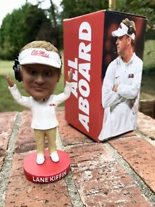 Lane Kiffin Bobblehead Ole Miss Football STH20 Brand New In Box Rebels Rare