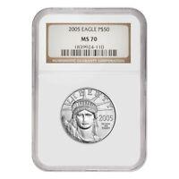 2005 1/2 oz $50 Platinum American Eagle NGC MS 70