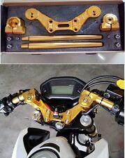 Honda Grom MSX125 Handle Bar Kit Lower Sport Slot Gold color Squat Drag Bike