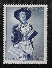 FRANCOBOLLO TIMBRE MONACO N° 1919 AUTOMATES / PEINTRE POETE NUOVO