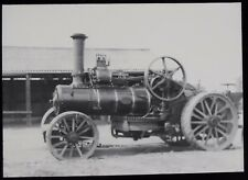 Glass Magic Lantern Slide TRACTION ENGINE DATED 1960 PHOTO PLOUGHING ENGINE