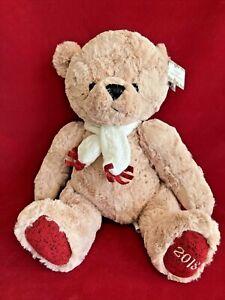 Dillards Trimmings 2018 Christmas Teddy Bear Plush NEW!