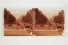 Paris Rue Royal Place de la Concorde France Plaque verre stereo ca 1930