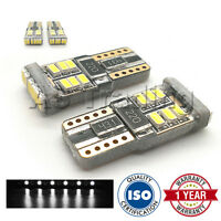 2X WHITE W5W 501 SIDELIGHT NUMBER PLATE INTERIOR 18 SMD 360 LED BULBS CANBUS