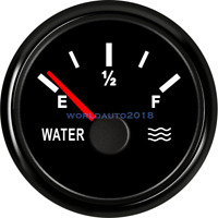 52mm 12V/24V Marine Car Water Level Gauge Boat Water Tank Level Gauge 0-190 ohms
