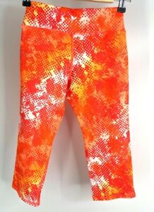 Old Navy Girl's Active Go-Dry Orange Activewear Leggings. Size M (8)