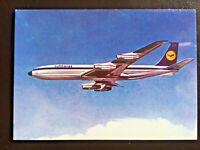 Lufthansa Airplane Boeing 707 Intercontinental Jet Postcard